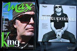 Vasco Rossi - rivista Max Aprile 2008 + Libro