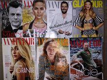 Riviste Glamour e Vanity Fair