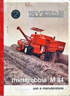 Manuale di uso e manutenzione per mietitrebbia Laverda M 84